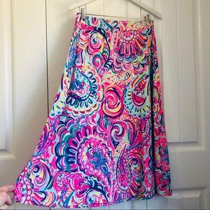 Lilly Pulitzer Shia Midi Skirt Size Medium